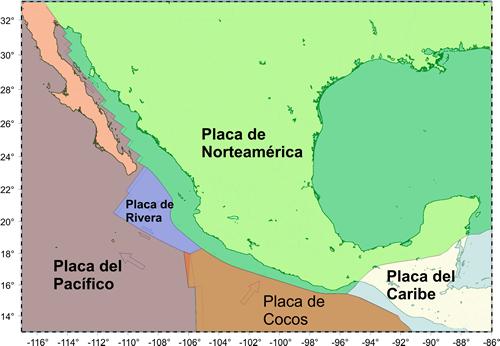 Resultado de imagen para placas tectonicas de mexico