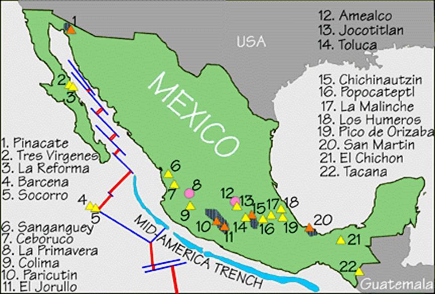 Risultati immagini per volcanes mexico